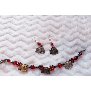 Ohio State Bracelet and Earrings